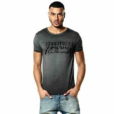 883 Police Chance Graphic Mens Short Sleeved Crew Neck Black Cotton T Shirt