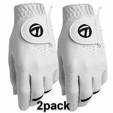 TaylorMade 2017 All-Weather Leather Palm Mens Performance Golf Gloves Pack of 2
