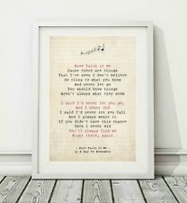 127 A Day To Remember - Have Faith In Me - Song Lyric Poster Print - Sizes A4 A3