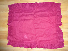 Pottery Barn LINEN RUFFLE SHAM-ONE STANDARD SIZE-RED COLOR-2 AVAILABLE