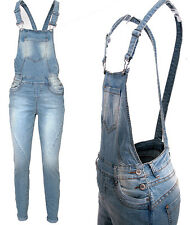 Fresh Made Women Dungarees jeans Long dungarees Boyfriend Fit Overall Jumpsuit