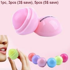 1pc- Care-Fruit-Flavor-Cream-Lipstick-Lips-Ball-Box Smooth-Sphere-Lip-Balm