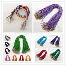 20Pcs Pretty 2mm Mixed Color Real Genuine Leather Necklace Cord 18 inch XLZ-579