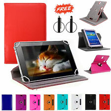 "UNIVERSAL 360° LEATHER Folio STAND Case COVER FOR 9.7""-10.1"" TAB ANDROID PC"