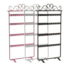 24/48 Holes Metal Ears Display Show Jewelry Rack Stand Organizer Holder Lot