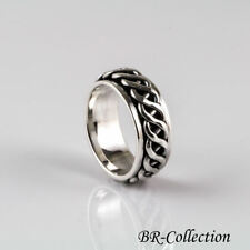 Sterling Silver Celtic Knot Spinner Band Ring for Men or Women - Irish Jewelry