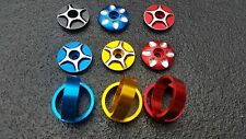 Red Blue Gold stem top cap headset 1-1/8''  or 2 x 10mm Spacers bars BMX MTB