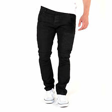 883 Police Aivali 312 Tapered Fit Mens Cotton Denim Button Fly Closure Jeans