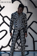 Adidas Originals ObyO Jeremy Scott PEARLY KING TRACKSUIT JACKET TOP & PANTS RARE