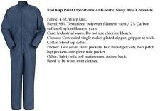 wdes1761 2 2XL Paint Operation ESD Anti-Static Navy COVERALL CK44 Red Kap 1st