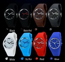 Fashion Brand Women Colorful Jelly Watch Men Casual Silicone Band Quartz Watch