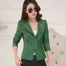 2016 New Spring Coat jacket women leather jacket V Neck short zipper jacket