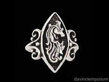 Sterling Silver Unicorn Cameo Ring