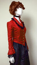 Reenactment Victorian Edwardian Bustle Skirt & Jacket Taffeta Suit