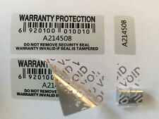 Warranty Void Stickers Tamper proof Evident Labels Security seal protection UK