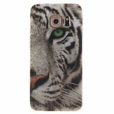 Tiger head Rubber Patterned Silicone Soft TPU Cute Back Cover For Various Phones