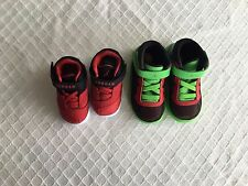 NWT Nike Air Jordan Baby Size 4C Red Black Size 7C Green Black Red