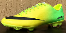 Mens Nike Victory Mercurial Soccer Cleats IV FG Size 7/8/9/9.5/10 Lime/Yellow