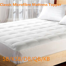 Classic Microfibre Luxury Mattress Topper 600 gsm Fill with Fully Fitted Skirt