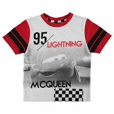 BOYS KIDS CHILDRENS DISNEY CARS LIGHTNING MCQUEEN T-SHIRT SHIRT TOP