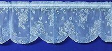 Beautiful BLUE HYDRANGEA Lace Valance and Tiers