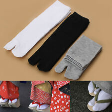 1 Pair Mens Womens Japanese Kimono Flip Flop Sandal Split Toe Tabi Ninja Socks