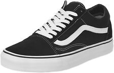Vans Old Skool Black White Mens Womens Canvas Fashion Skate Shoes Sizes 4.5-13