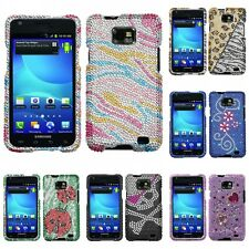 For Samsung Galaxy S2 i9100 Attain Bling Diamante Protector Case Cover