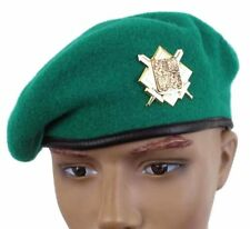 CZECH ARMY GREEN BERET & BADGE