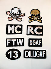 Choice Of 8 *TOP QUALITY* Biker Club Patches, Motorcycle, Member, Gang