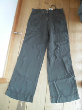GARDEUR GREY WIDE LEG CARGO TROUSERS UK 12 LONG ROLL UP LEG BNWT TENCEL