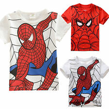 Toddler Boy Kids Spiderman Short Sleeve T-Shirt Casual Top Summer Clothes Outfit
