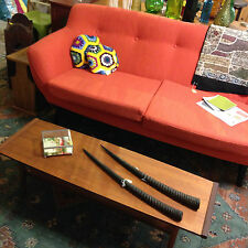 Retro Scandinavian Style 2 seater 2.5 seater sofa, occasional chair, footstool