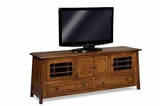 Amish Mission Craftsman Colbran TV Stand Solid Wood Console Cabinet Storage 73""