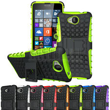 Rugged Heavy Duty Hybrid Tough Rubber Shockproof Armor Stand Case Hard Cover