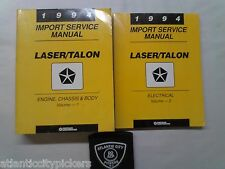 1994 CHRYSLER LASER EAGLE TALON IMPORT 2 VOLUME SERVICE SHOP REPAIR MANUAL SET
