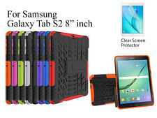 "For Samsung Galaxy Tab S2 8.0"" Heavy DutyTPU Back Stand case & screen protector"