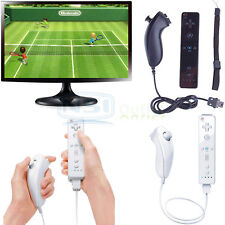 Remote And Nunchuck Controller Set For Nintendo Wii Video Game + Case Skin Hot