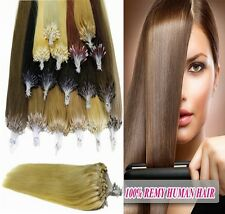 Loop Micro Ring Beads Tipped Remy Human Hair Extensions 50g 100g 18''20''22''