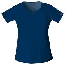 Cherokee Workwear Scrub Short Sleeve Round Neck 4824 NAVW Navy Free Shipping