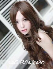 Women Full Wig Wavy Long curly Hair Fashion Charming Cosplay party+wig cap PO246
