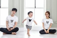 100% cotton cute micky simple basic family matching cute clothes T-shirt