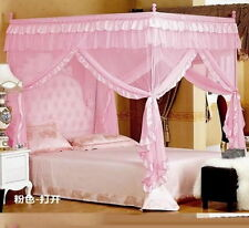 Pink Four Corner Post Bed Canopy Mosquito Netting Or Frame Post All Size #BB
