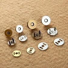 10 Sets 14mm/18mm Magnetic Purse Snaps Fasteners Clasps Closures Sewing Buttons