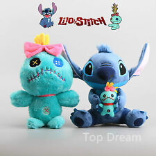 Disney Lilo Stitch & Scrump Plush Toy Soft Stuffed Doll 10'' 13'' Teddy Kid Gift