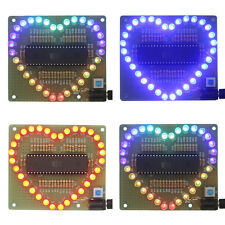 New DIY Kit Heart-shaped LED Red Blue Colorful Light Water Electronic BE