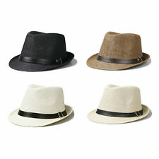 Stylish Hat Summer Straw Hat Cap Topee Fedora Trilby Panama Hat Cap Jazz Hat BE