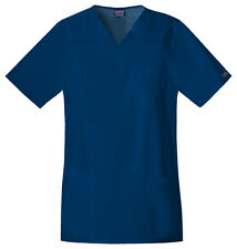 Cherokee Workwear Short Sleeve Scrub Top 4701 NAVW Navy Free Shipping