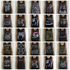 Unisex Rock Vest Singlet Tank-Top Sleevless T-Shirts Sizes S M L XL