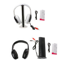 High Quality 5 in 1 Hi-Fi Wireless Headset Headphone Earphone for TV DVD MP3 PC